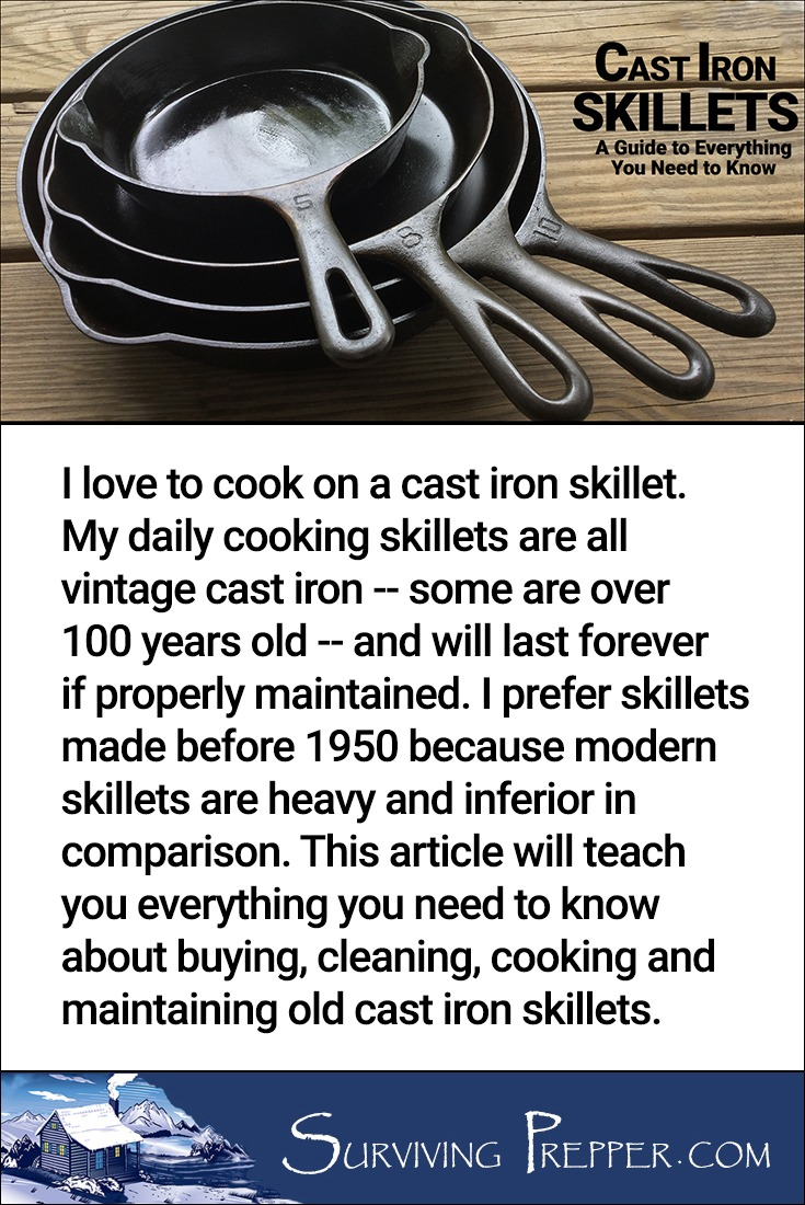 Vintage cast iron cookware is a pleasure to cook with and easy to maintain. Learn how on SurvivingPrepper.com
