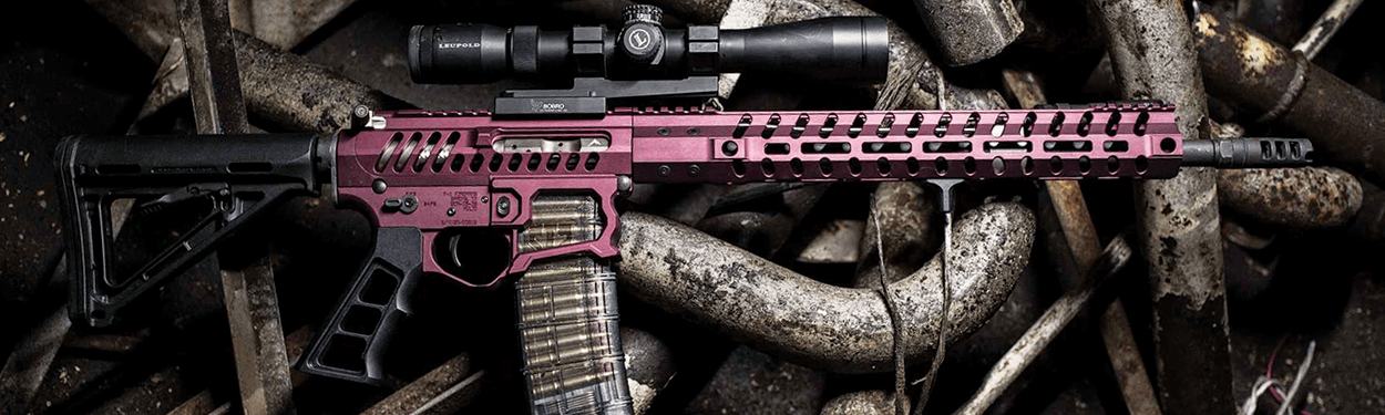 F1 Firearms BDR-15-3G Billet Full Build Rifle in Pink