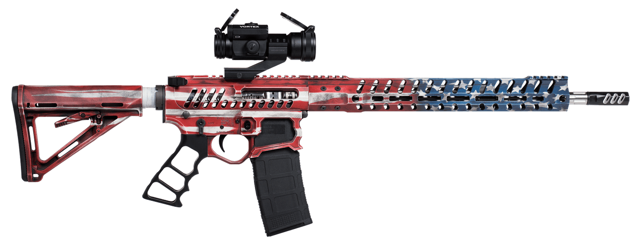 f1 firearms BDR-15-3G Billet Full Build Rifle Flag
