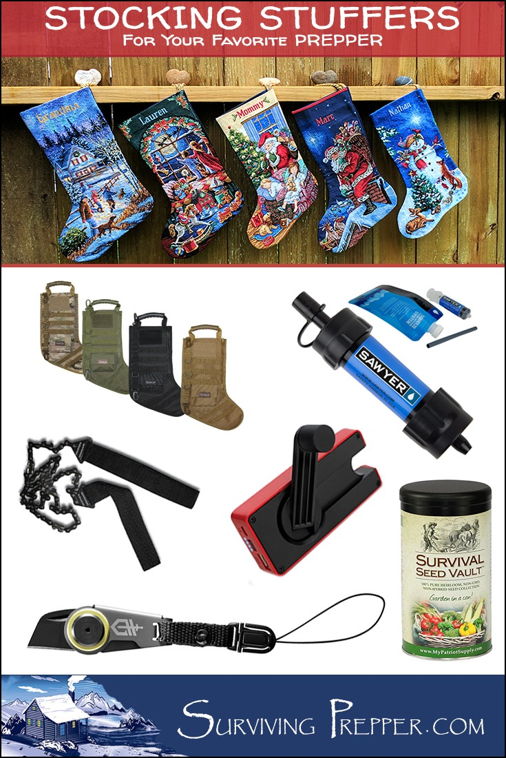 Are you playing Santa to a prepper or survivalist this Christmas season? If so, check out these five must-have 2016 stocking stuffers!