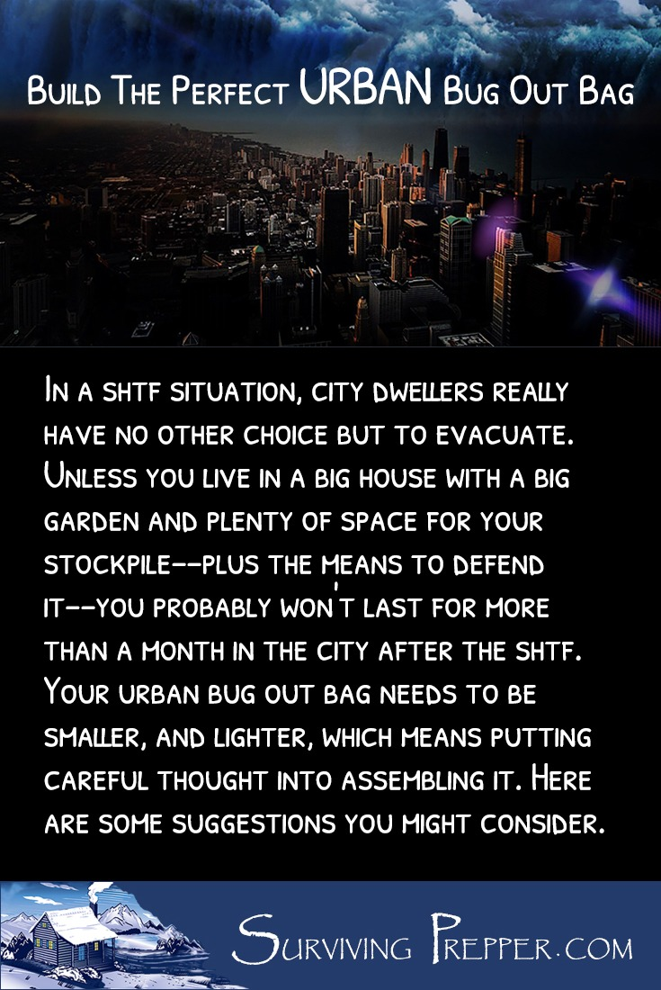 Bugging out of the city requires moving swiftly. Don't weight yourself down. Put careful thought into packing your urban bug out bag.