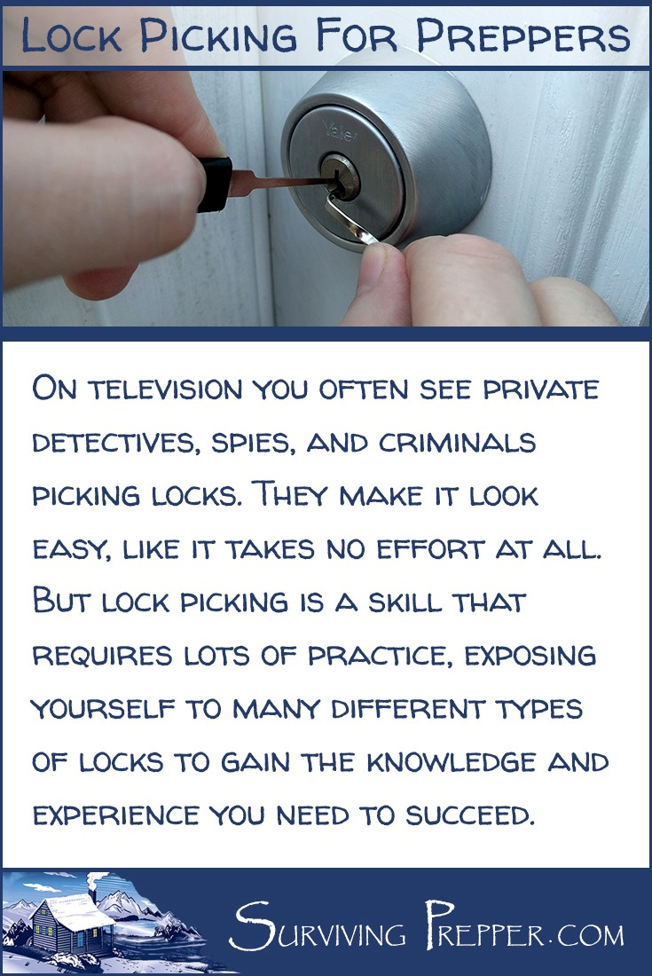On television you often see private detectives, spies, and criminals picking locks. It looks easy, but it requires practice to master.