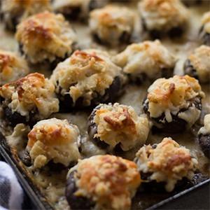 Garlic Parmesan Stuffed Mushrooms