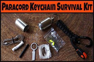 Paracord EDC Survival Keychain