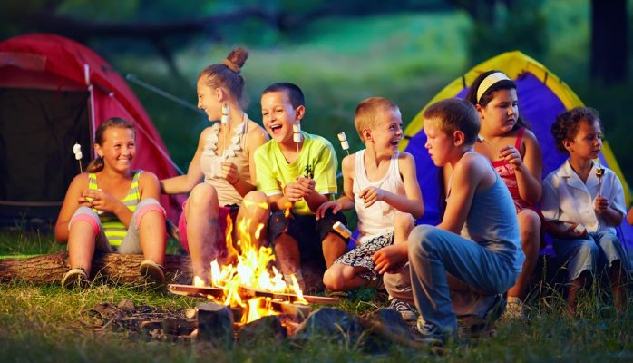 Use camping to make the kids smarter