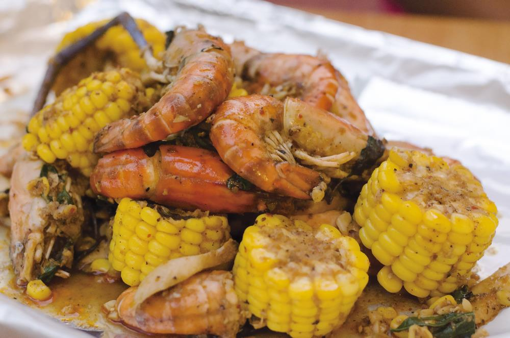 Cajun surf and turf - Campfire Cooking