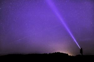 Tactical Flashlight at Night