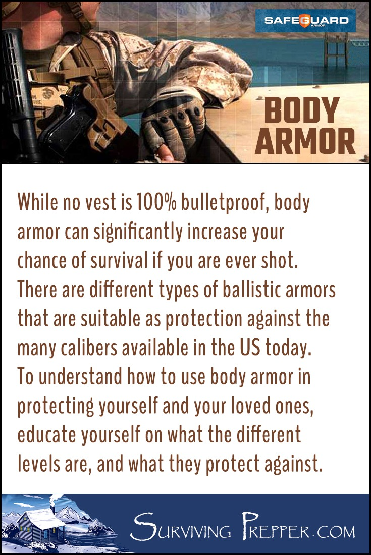 To understand how to use body armor in protecting yourself and your loved ones, educate yourself on what the different levels of body armor protection are, who they benefit most, and what they protect against.