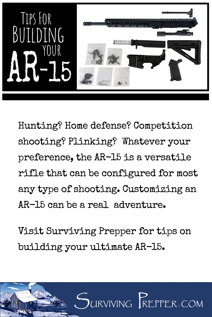 Hunting? Home defense? Competition shooting? Plinking?  The AR-15 is a versatile rifle that can be configured for most any type of shooting. Build your own!
